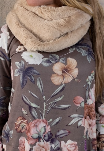 Fluffig tubsjal - Beige f315153f75d76