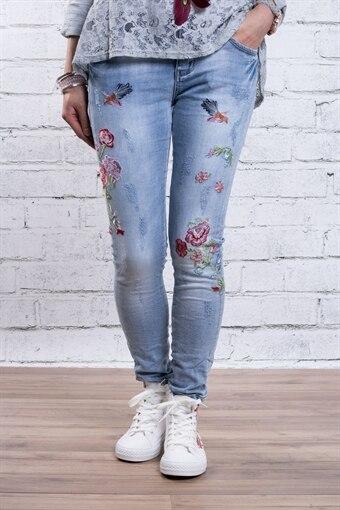 Jeans RD2184 med Slitningar   Brodyr - Ljustvätt 603b42890c24f