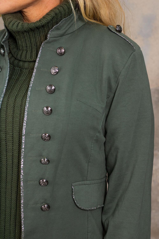 Armykavaj - Glitterkanter - Khaki