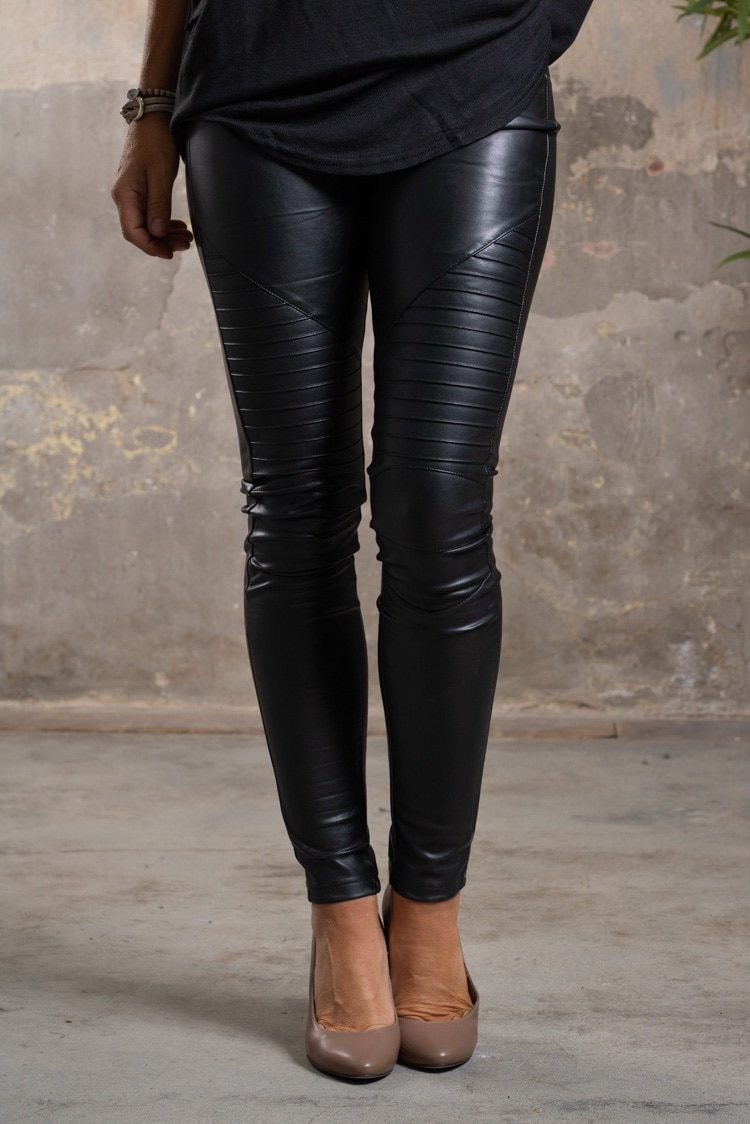 Biker-leggings---fejkskinn---VS18009-1-1---Svart-fram
