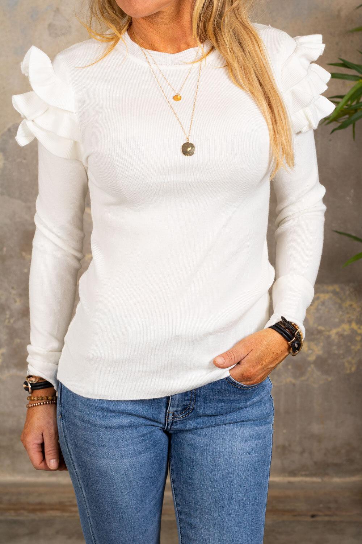 Brooke tröja - Volanger - Cream