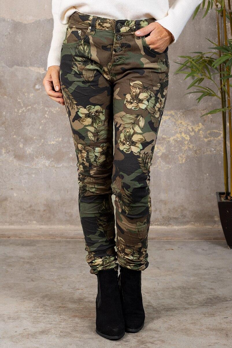 Byxor 90089-F332 - Camouflage Blommor Ny fram