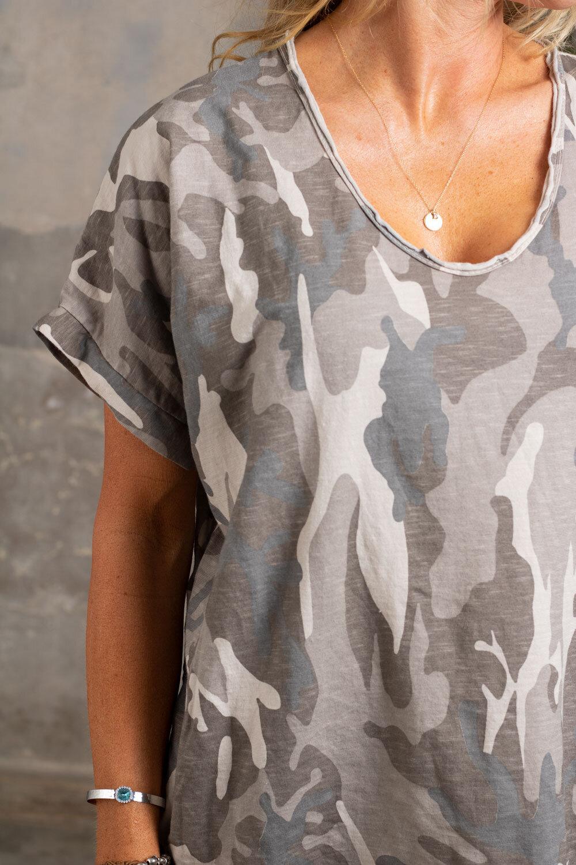 Cajsa t-shirt - Camouflage - Beige