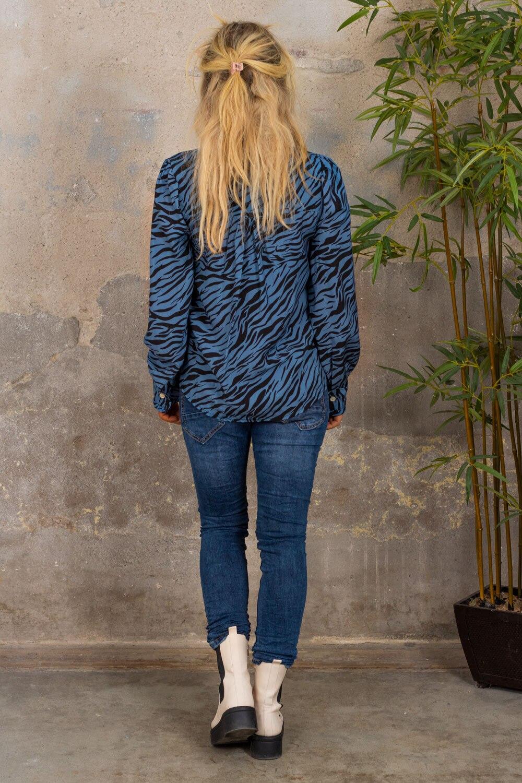 Elaine Blus - Zebra & Volanger - Blå
