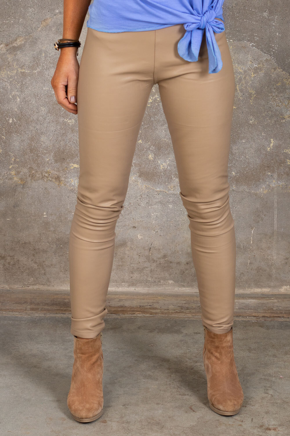 Fejkskinn leggings - VS18013-1-10 - Beige