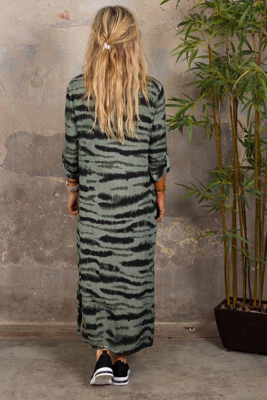 Felicia Långskjorta - Zebra - Khaki