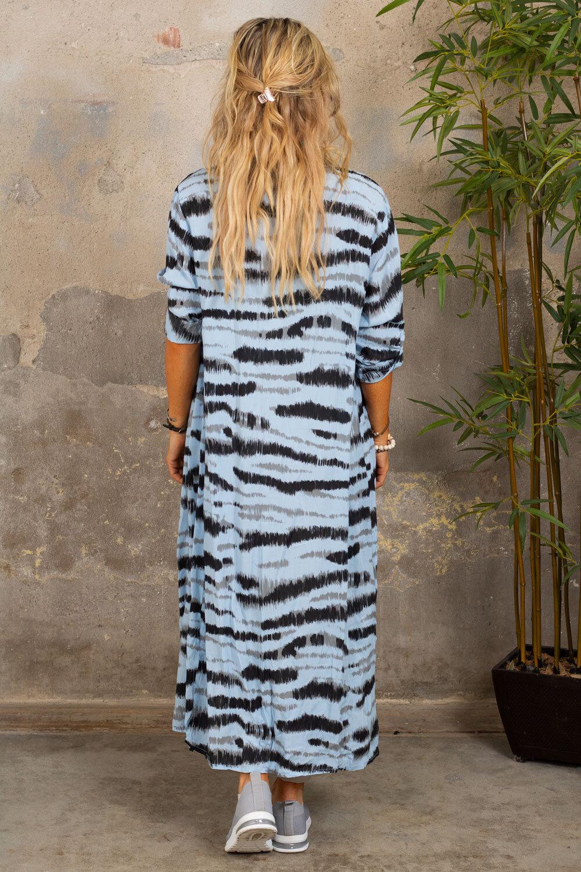 Felicia Långskjorta - Zebra - Blå