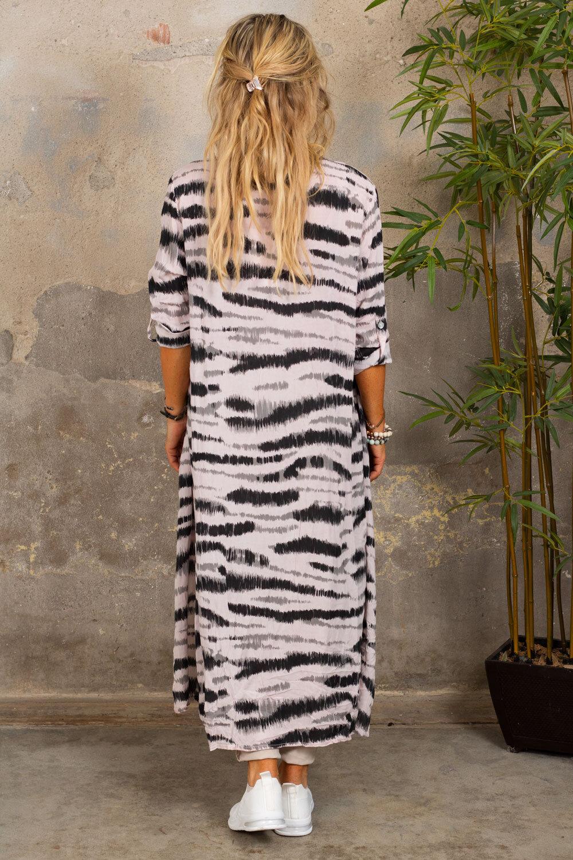 Felicia Långskjorta - Zebra - Rosa
