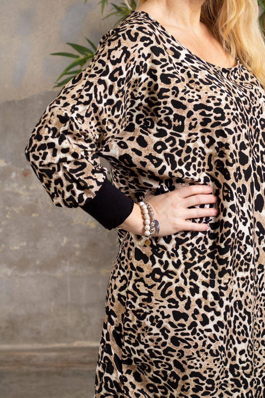 Gina klänning - Leo & Mudd - Svart/Beige