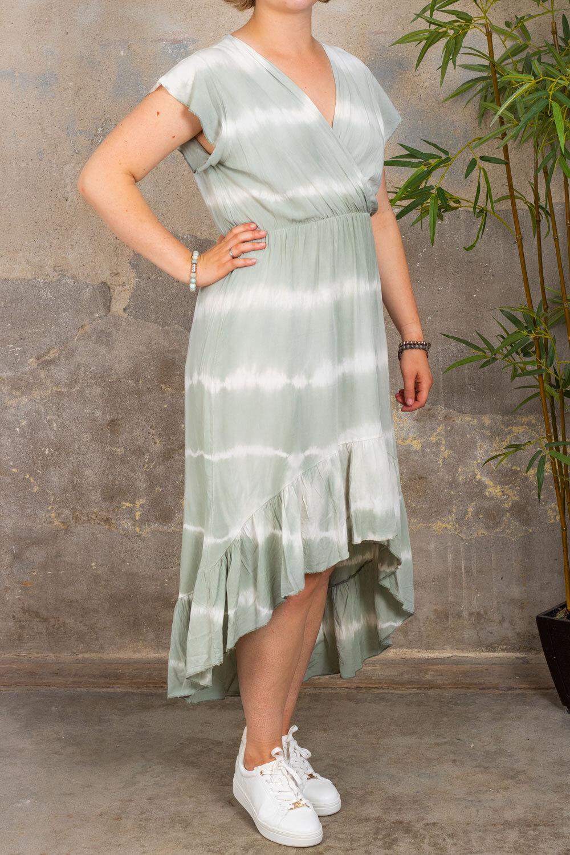 Hanna - Klänning med volanger - Batik - Khaki