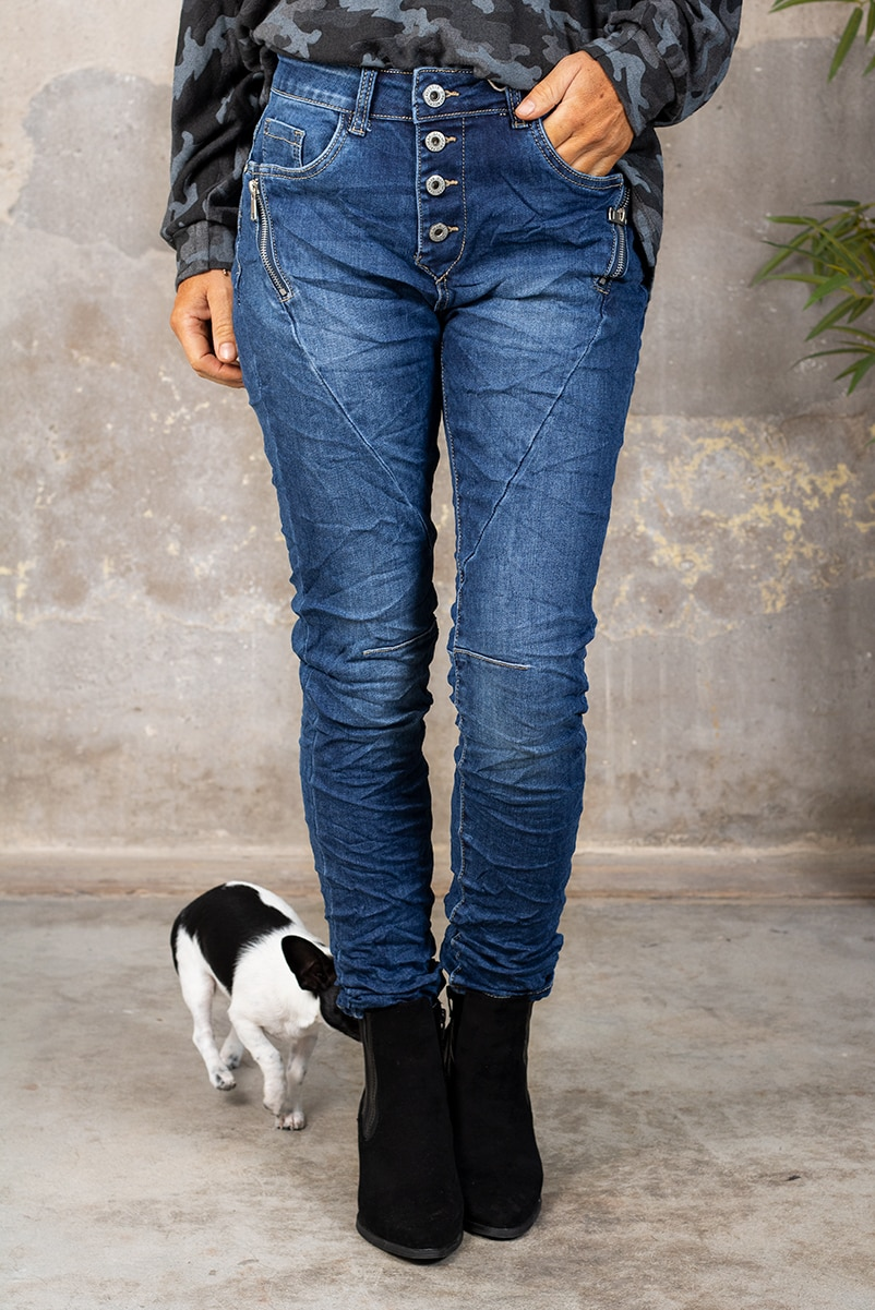 Jeans JW1559 - Dragkedjor - Denim fram
