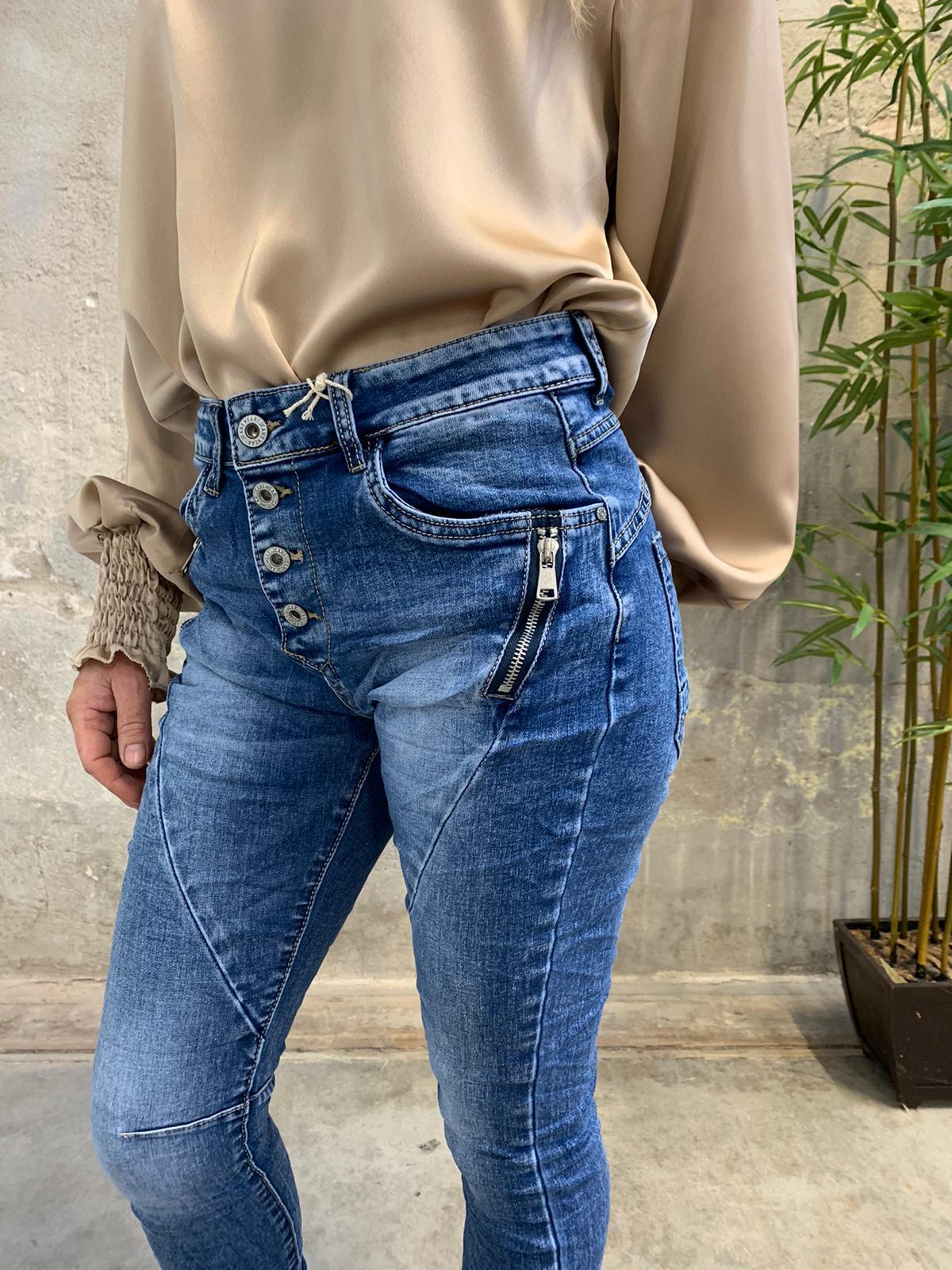 Jeans JW2607 - Dragkedjor - Denim detalj
