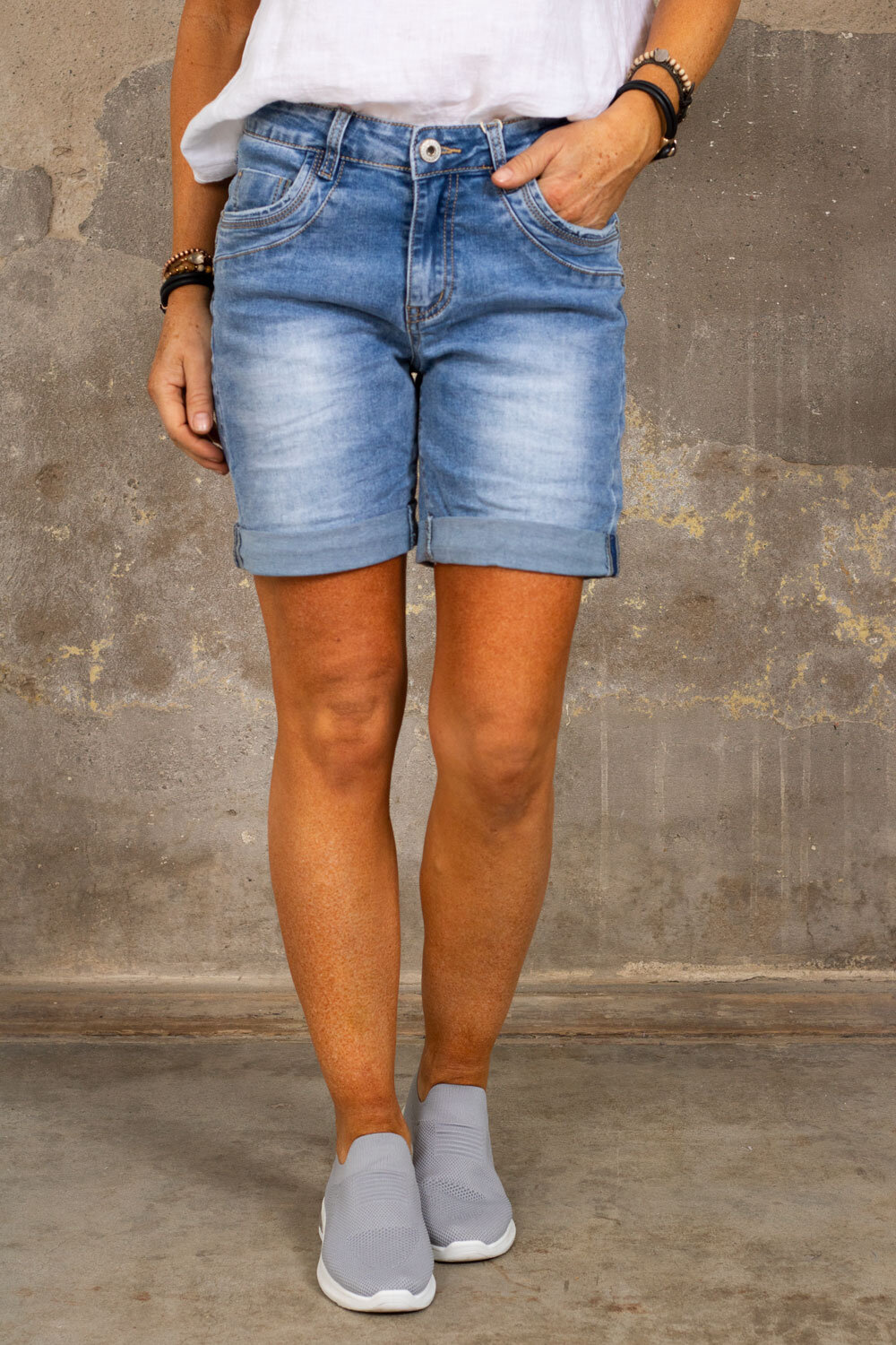 Jeansshorts S9353 - Denim