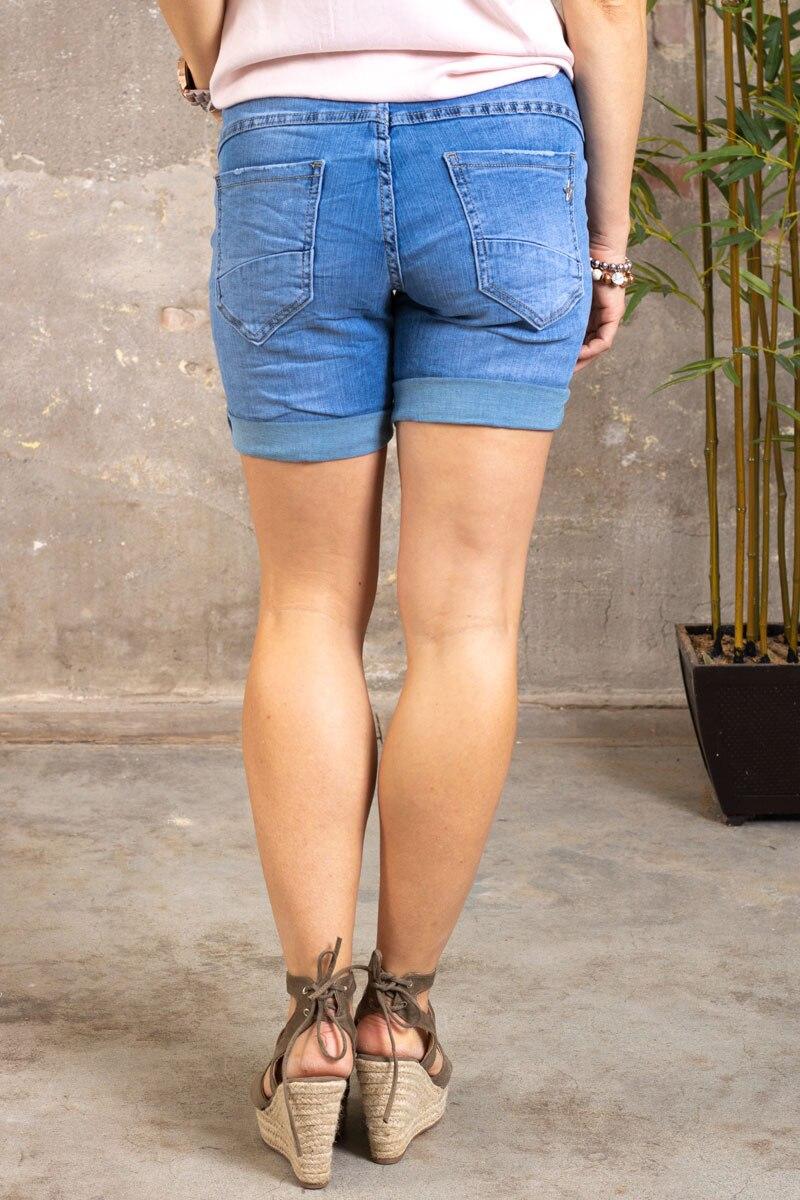 Jeansshorts-S9357---Dragkedjor---Ljustvatt---bak