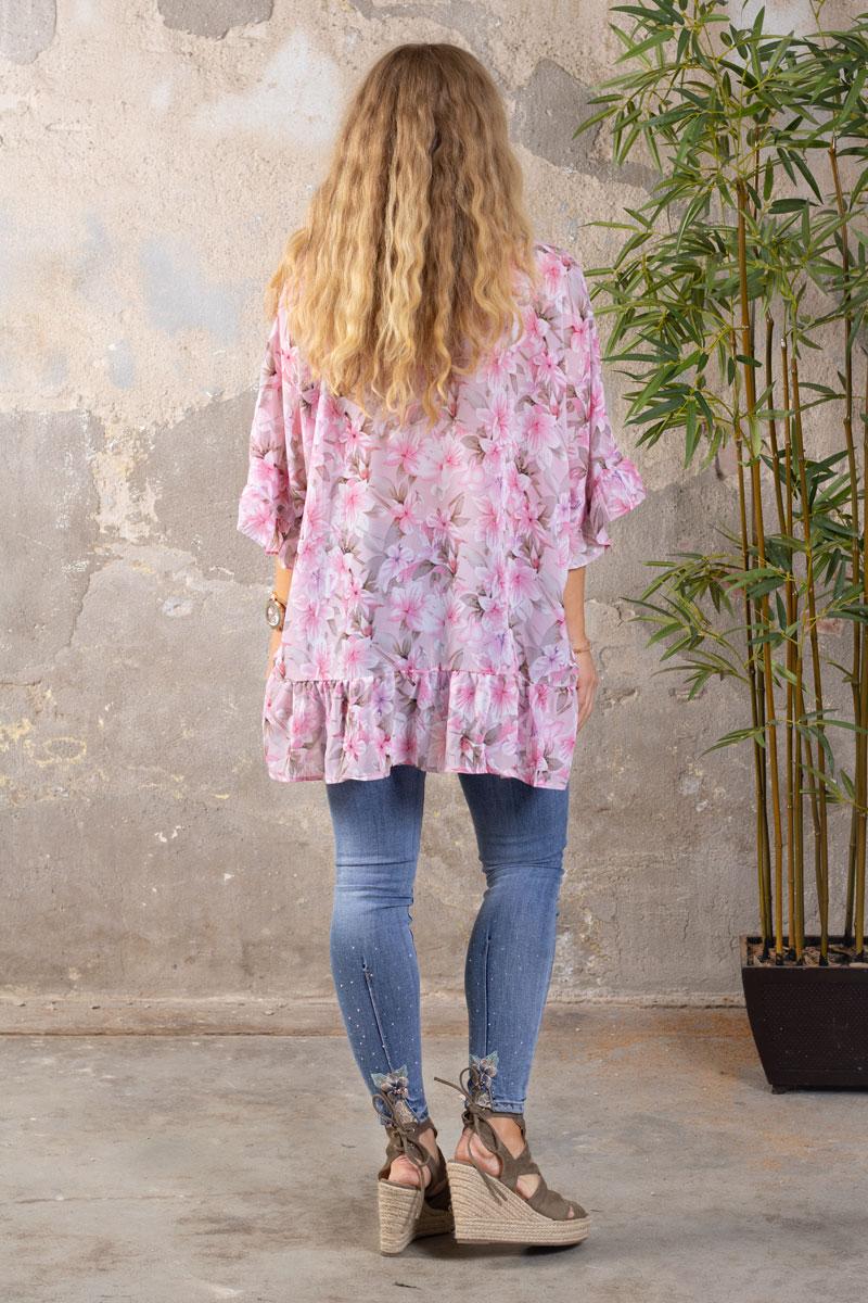 Katherine-Blus---Blommor-Volanger---Rosa-bak