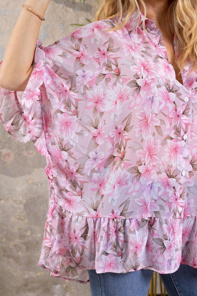 Katherine-Blus---Blommor-Volanger---Rosa-detalj