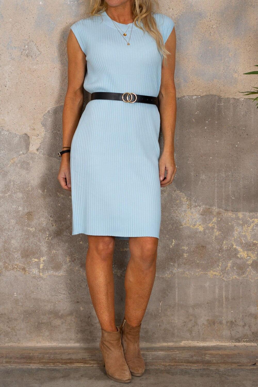 Klänning set med Skärp - Sky blue
