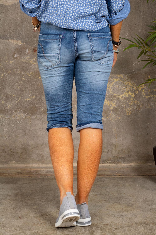 Långa jeansshorts 1268-B - Denim