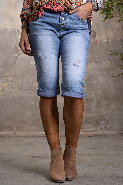 Langa-jeansshorts-1921-C---Slitningar---Ljustvatt--fram
