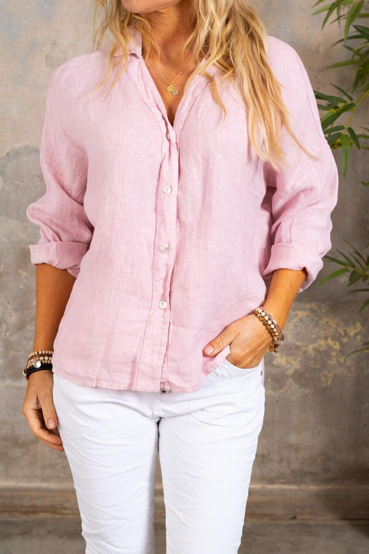 Mabel Linneskjorta - Rosa