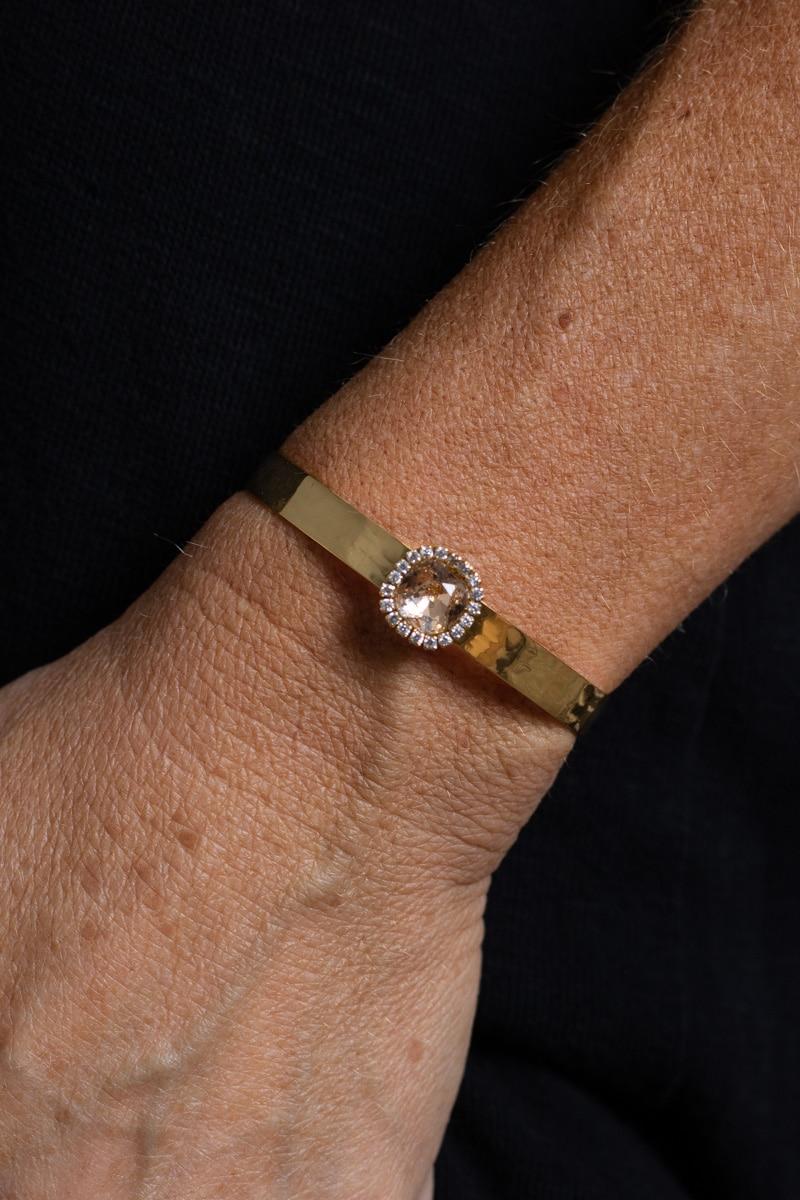 Metall-armband---Blingsten---Guld