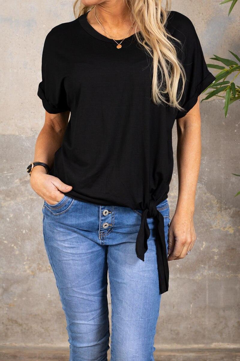Minna Knyt T-shirt - Svart
