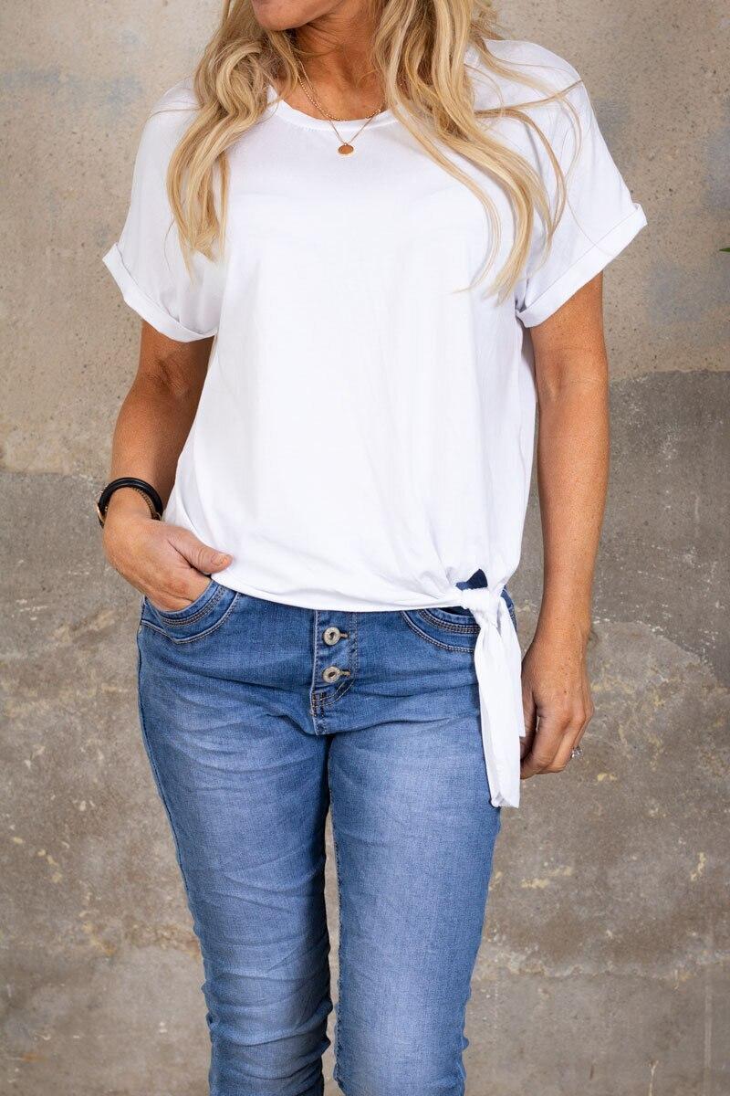 Minna Knyt T-shirt - Vit