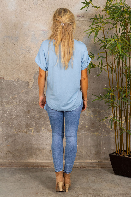 Minna Knyt T-shirt - Sky blue