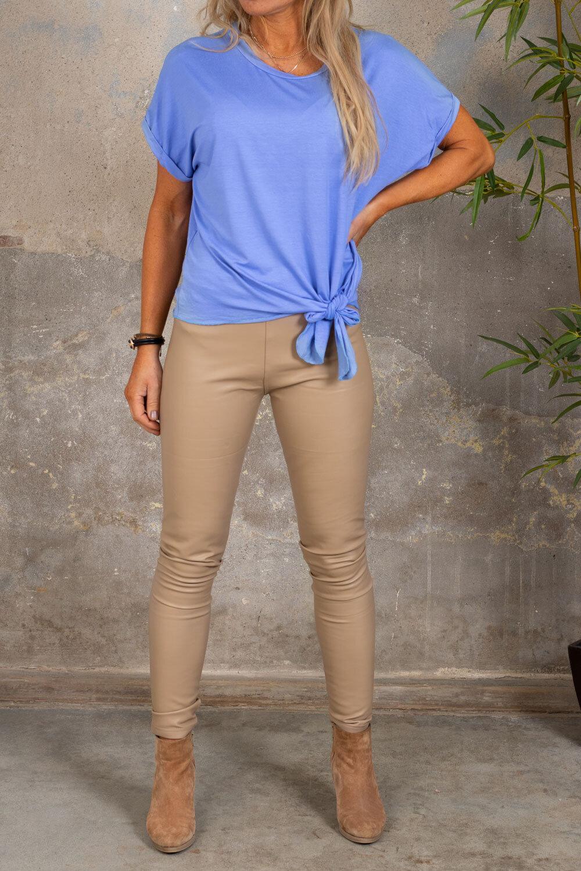 Fejkskinn leggings - VS18013-1-10 - Beige