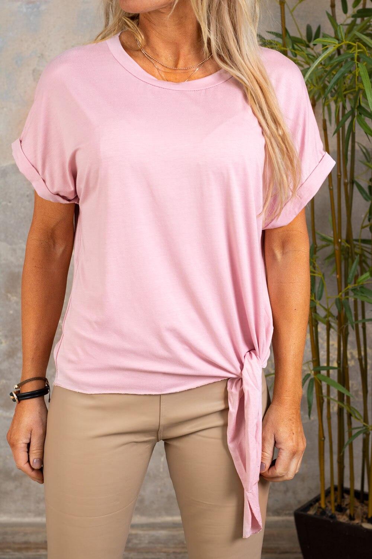 Minna Knyt T-shirt - Rosa