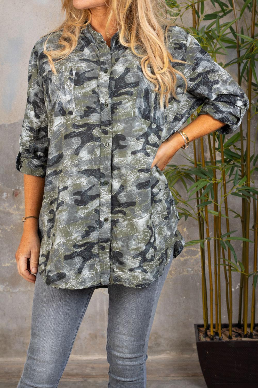 Nova-Langre-skjorta---Camouflage--Khaki-fram