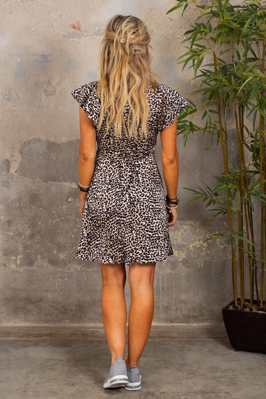 Paloma klänning - Leo - Svart/Beige