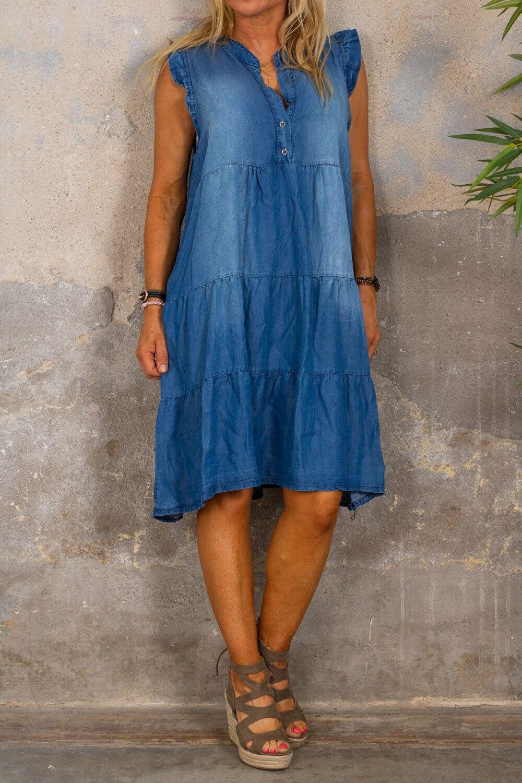 Roxanne jeansklänning - Denim