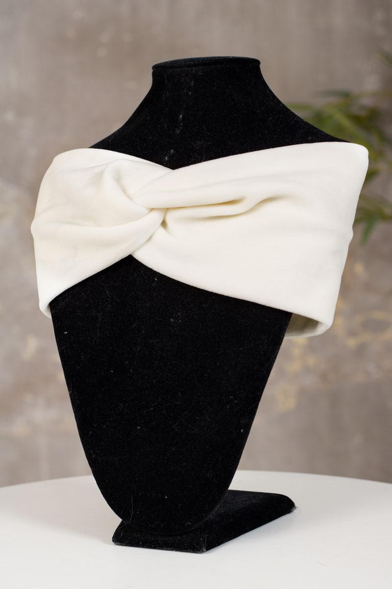 Sammetspannband-cream