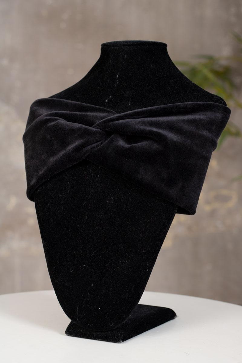 Sammetspannband-svart