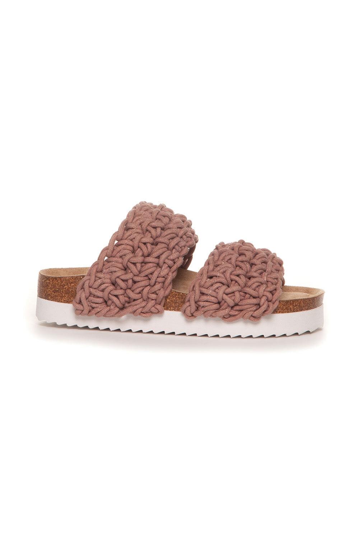 Sandal Flätad - Gammelrosa