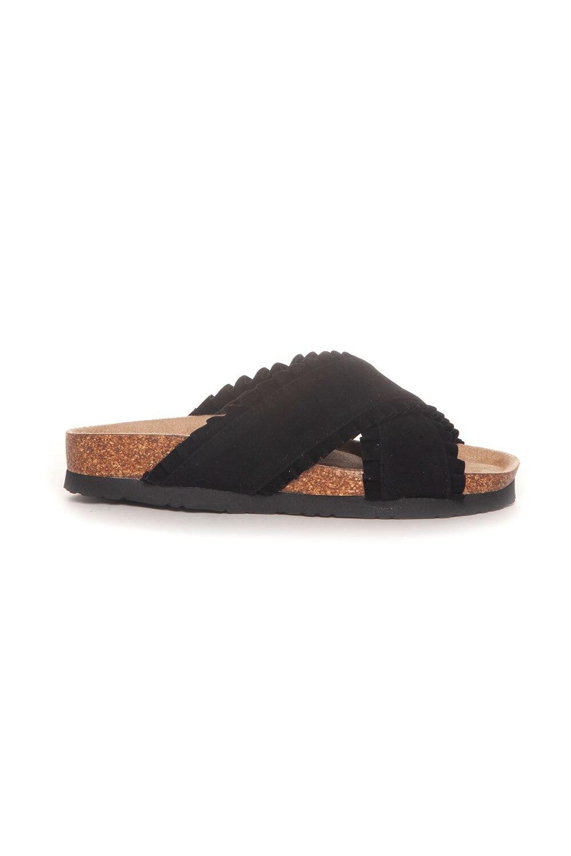 Sandal Volangkanter - Svart