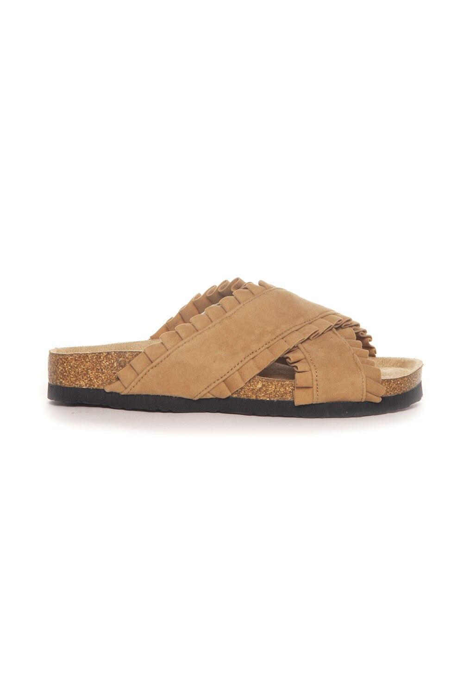 Sandal Volangkanter - Camel