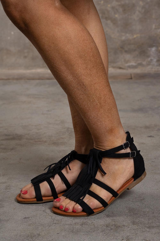 Sandaler-med-Fransar---582---Svart-sida