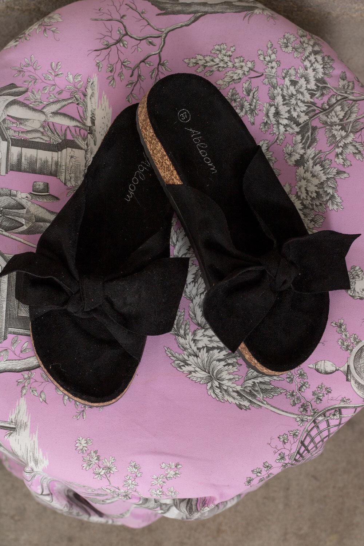 Sandaler med Rosett - 231 - Svart