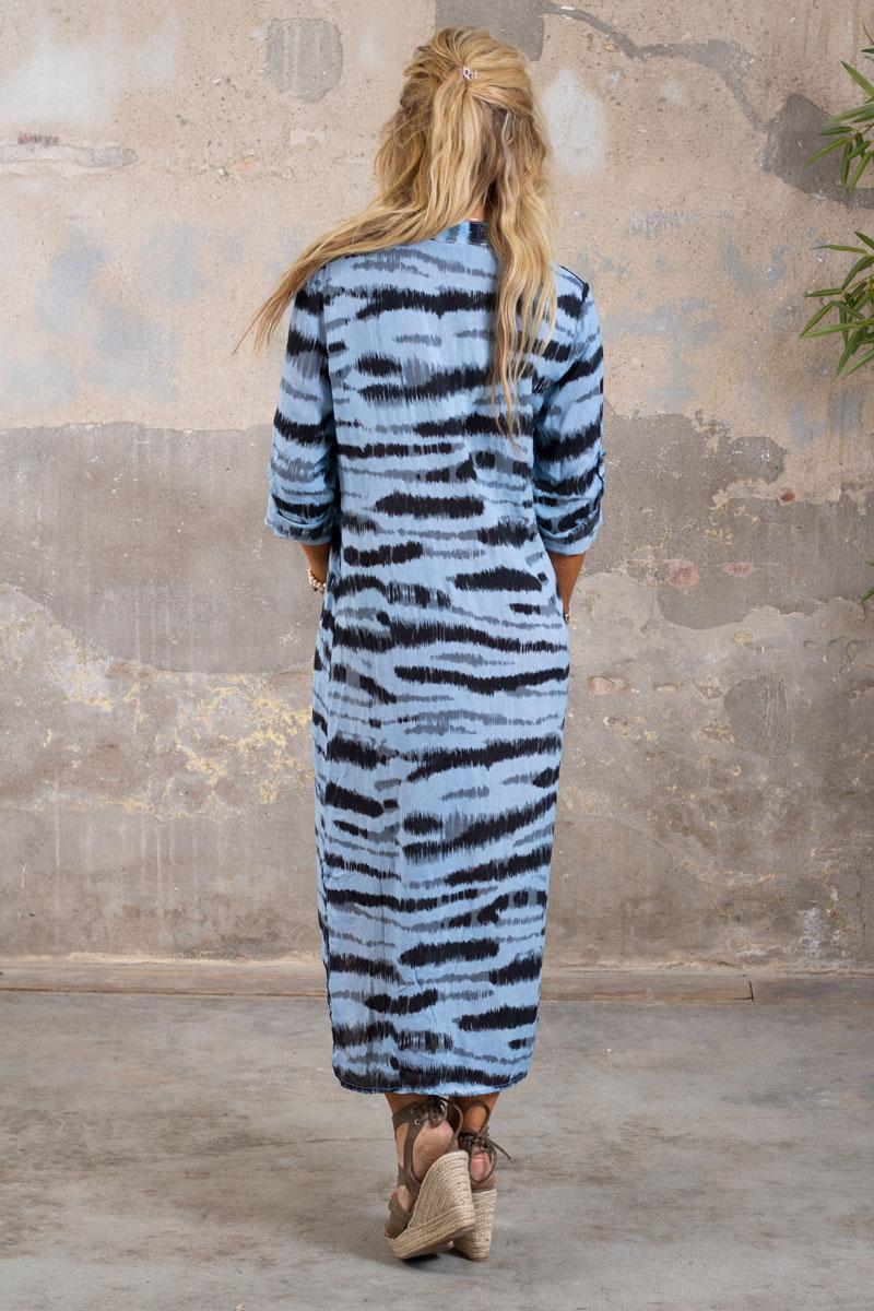Sandy-LangskjortaKlanning---Zebra---Bla-bak