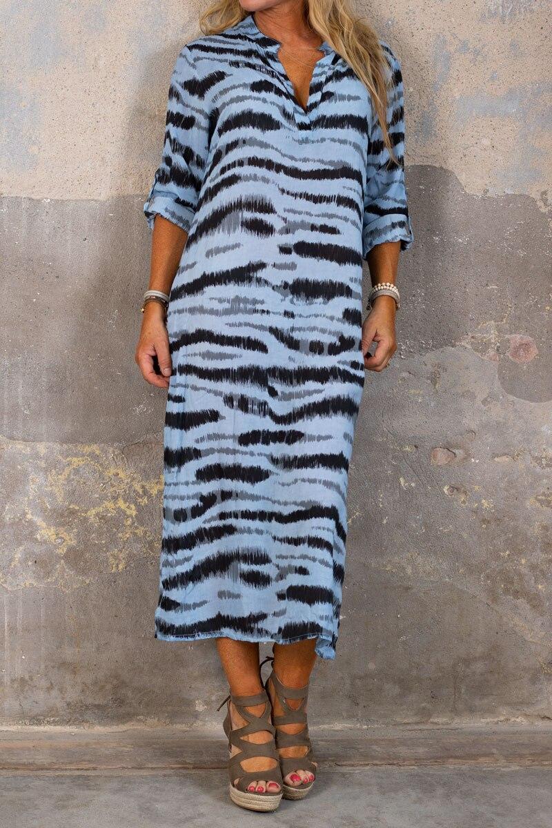 Sandy-LangskjortaKlanning---Zebra---Bla-fram