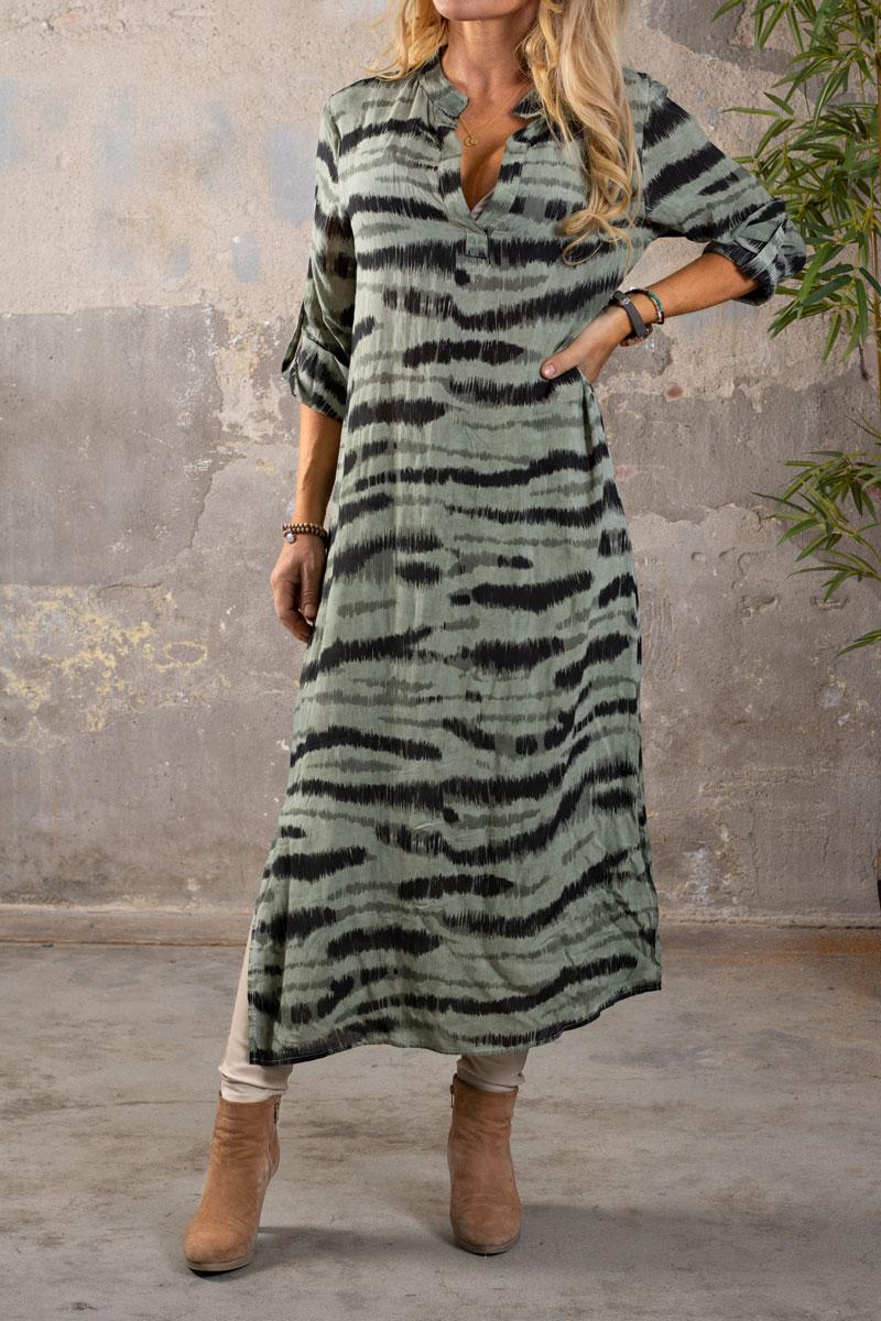 Sandy-LangskjortaKlanning---Zebra---Khaki-fram