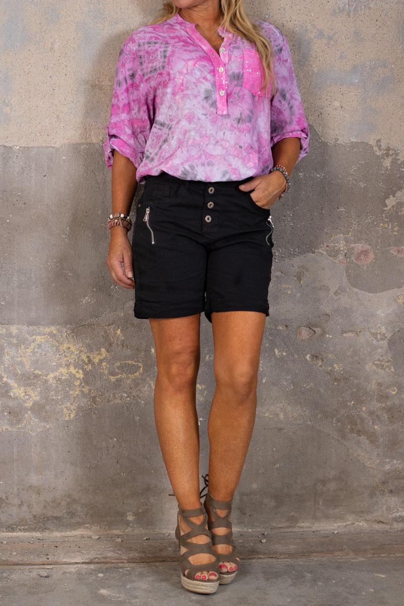 Shorts-med-Dragkejda---S18216---Svart-hel