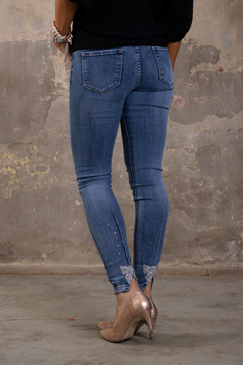 Skinny-Jeans-Ankellangd-RD6636---Strass-rosett---Denim-bak
