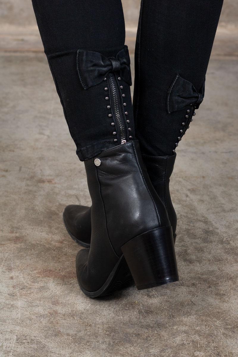Skinny-jeans-RD6389---Rosett-Dragkedja---Svart-detalj