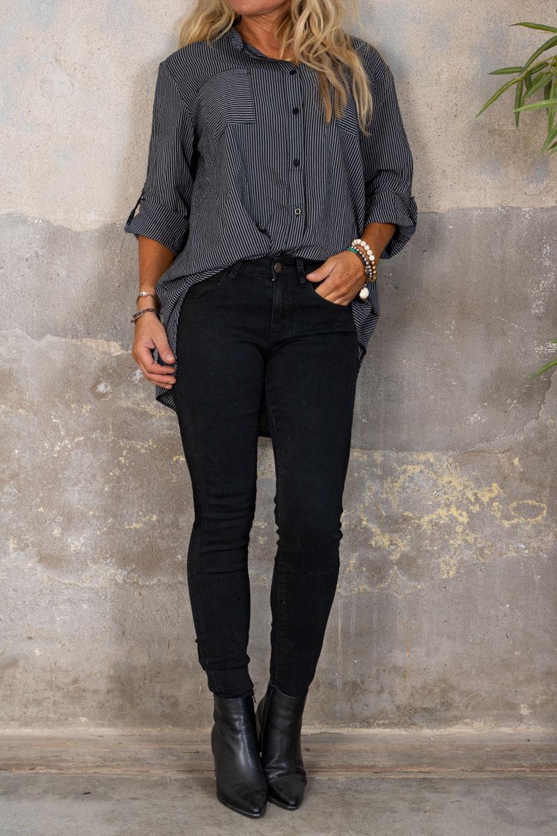 Skinny-jeans-RD6389---Rosett-Dragkedja---Svart-hel-2