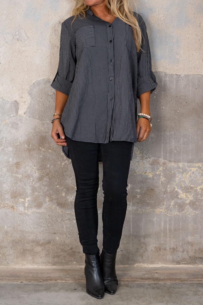 Skinny-jeans-RD6389---Rosett-Dragkedja---Svart-hel