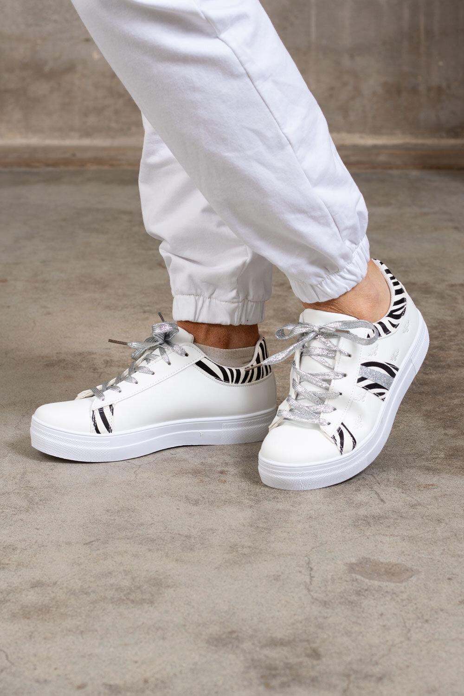 Sneakers 1087 - Zebra - Vit