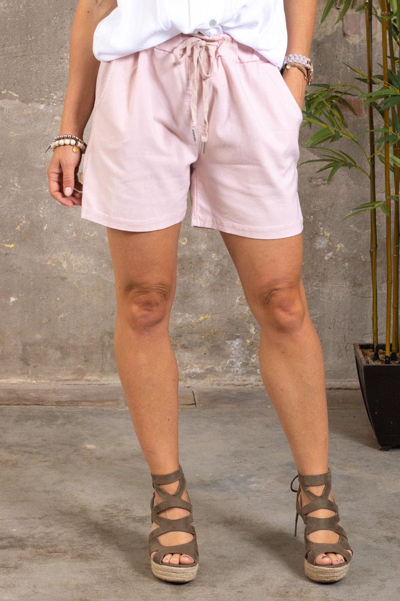Stretch-Shorts---301---Rosa---fram